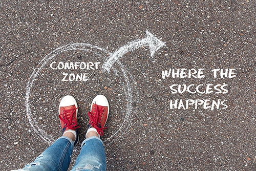 COMFORT ZONE ~ WHERE THE SUCCESS HAPPENS